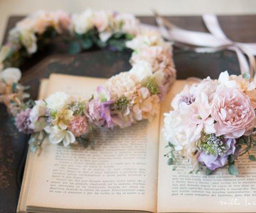 ニュアンスカラーパープルピンク花冠