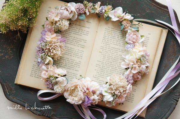パープルピンクナチュラル花冠