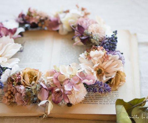 ラベンダーコスモスパープル花冠