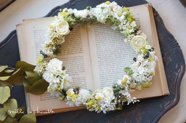 グリーン×イエロー野の花ナチュラル花冠