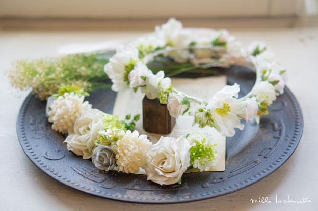 ローズナチュラルヘッドドレス、花冠