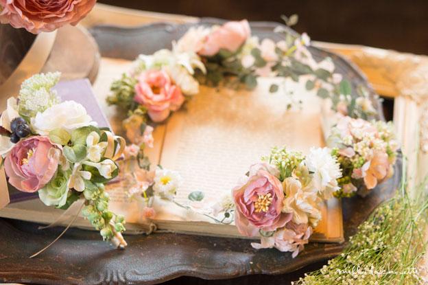 ローズラナンキュラスナチュラル花冠