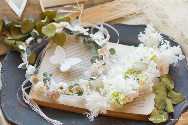 ホワイトナチュラル花冠
