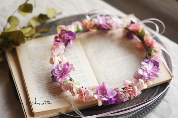 ピンクパープルグラデーション花冠