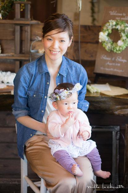 ナチュラルフラワー赤ちゃん用花冠