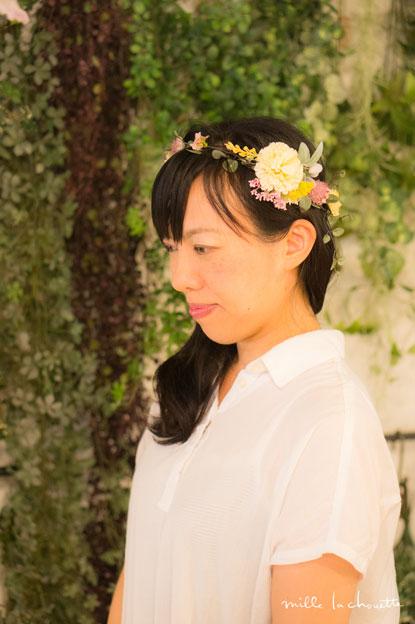 アンティークカラー花冠