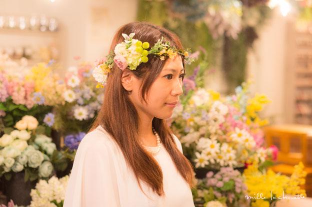 ラナンキュラス×グリーン花冠