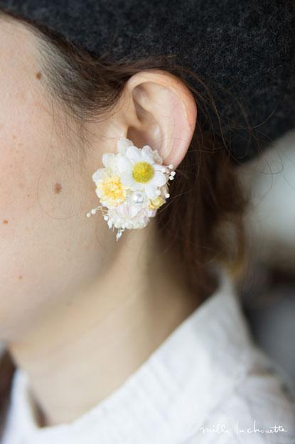 ナチュラル小花イヤリング