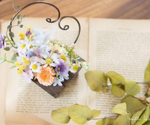 カラフル野の花ナチュラルリングピロー