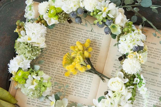 ホワイトグリーンナチュラル花冠
