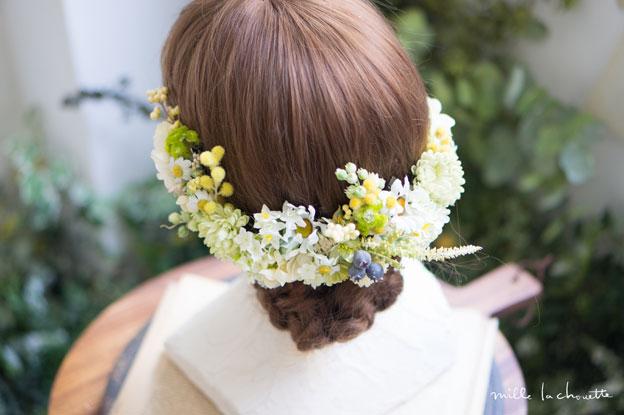 ホワイトイエローナチュラル花冠