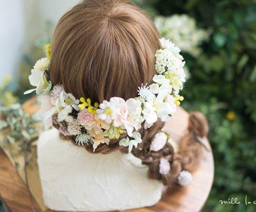 プルメリアパステルカラーヘッドドレス/リストレット