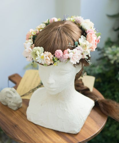 アプリコットローズナチュラル花冠