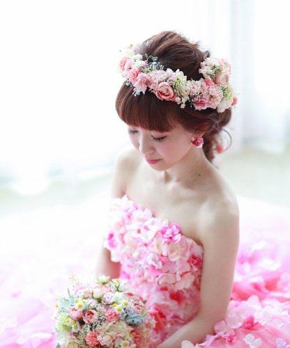 ピンクカラー花冠