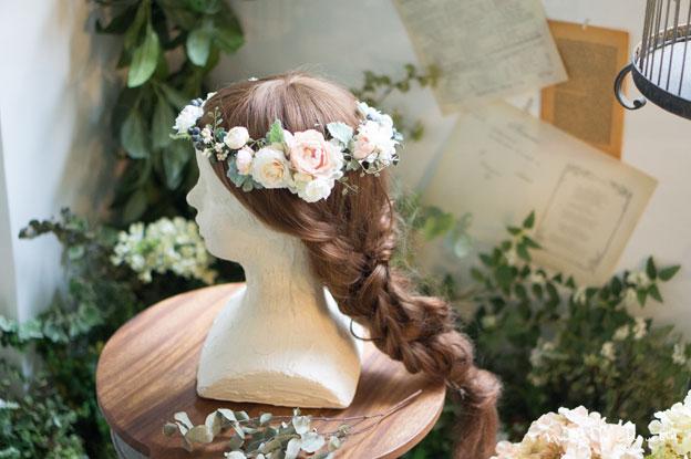 ニュアンスピンクベリー花冠