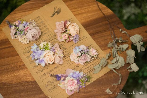パステルピンクパープル花冠
