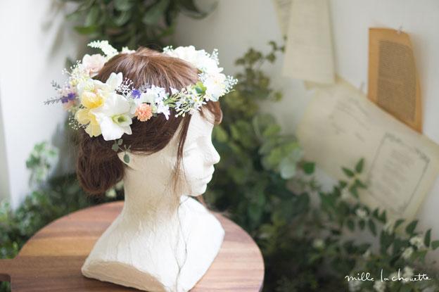 パステルカラフル花冠