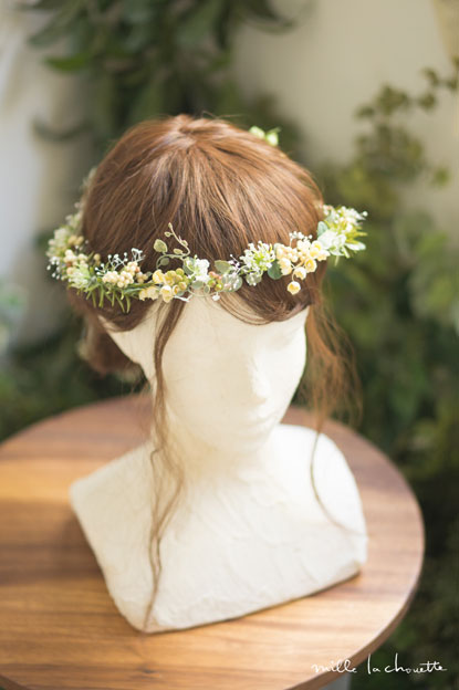 ホワイトグリーンナチュラル小花花冠