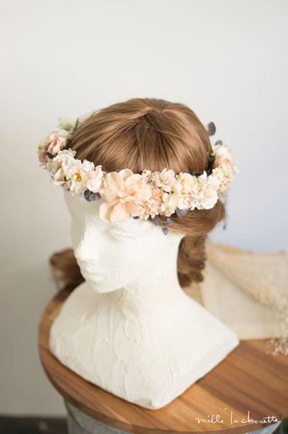 ニュアンスカラーふんわり花冠