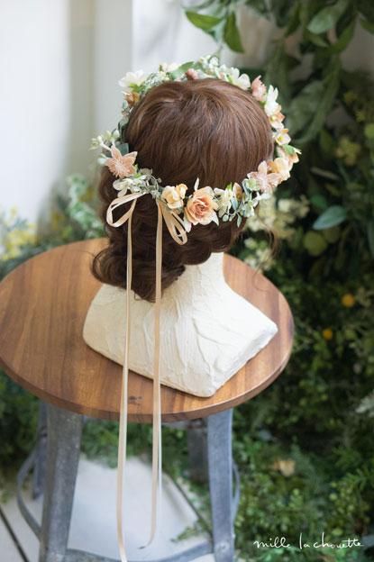 アンティークオレンジ花冠