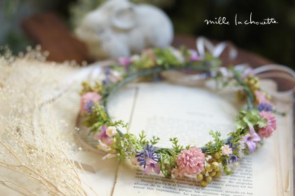 ナチュラル野花キッズ花冠