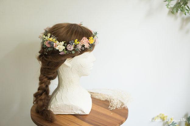 ナチュラル小花の花冠