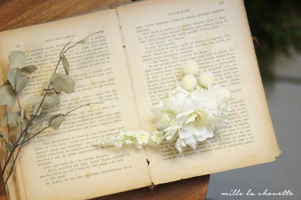 白いお花のヘッドドレス