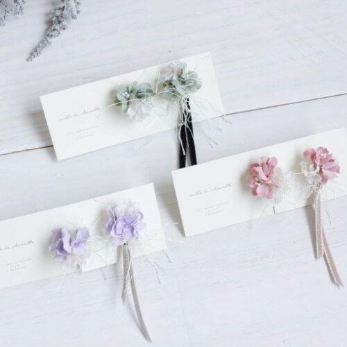 小花×ベロアリボンのイヤリング/ピアス_01